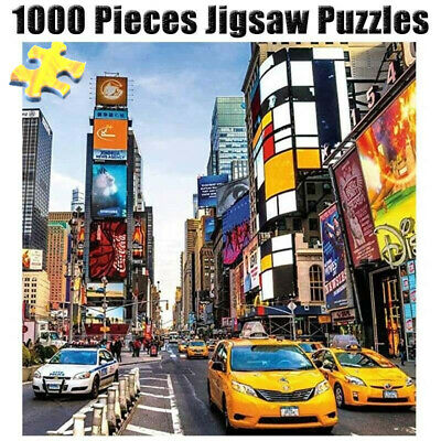1000 Pieces Puzzles Wooden Jigsaw Adults Kids DIY Assembling Toys Romantic Town