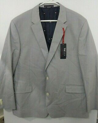 Tommy Hilfiger Flex Mens 50 Reg Light Gray 2-button Blazer Jacket NWT $275 Colby