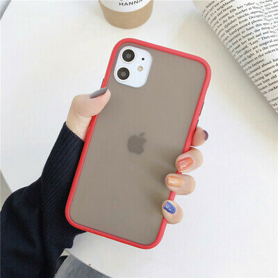 Protective Anti-fall Matte Red Translucent Mobile Phone Case for IPhone11