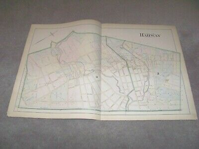 1882 Map Part of Rahway 3 New Jersey J E Robinson & R H Pidgeon A H Mueller