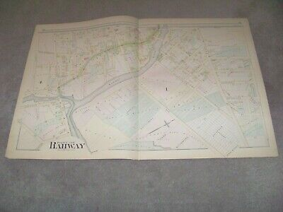 1882 Map Part of Rahway 2 New Jersey J E Robinson & R H Pidgeon A H Mueller