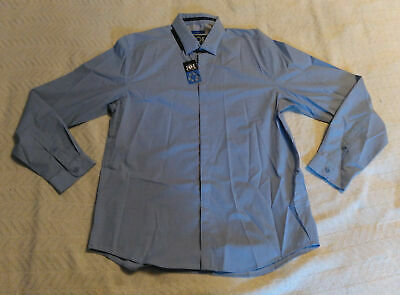 JOE Joseph Abboud Men's Repreve Circle Pattern Sport Shirt MC7 Blue Large NWT