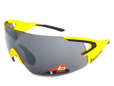 EX DISPLAY Bolle 5th Element Pro Sports Sunglasses Matte Yellow 12070