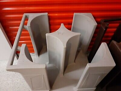 Two-Poker Chip Dish Dolly Plate Caddy Mobile Restaurant utility carts 4 columns