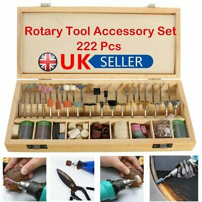 222X Rotary Tool Accessory Set Grinding Polishing Cutting Bit Kits for Dremel EV