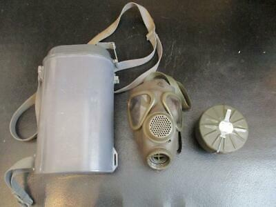 German Military Surplus Drager Gas mask and Filter Gasmask Military Police M65