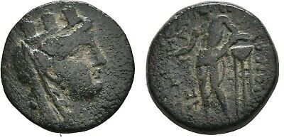 Ancient Greece 164-27 BC CILICIA MOPSOS TYCHE APOLLO TRIPOD #2