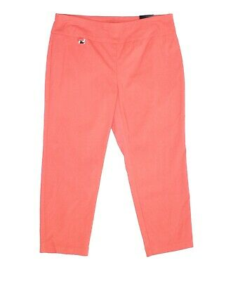 Alfani Women's Pants Pink Size 16 Capris Cropped Pull On Stretch $44 #401