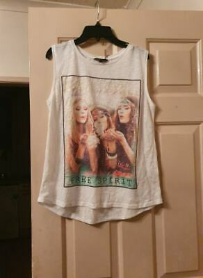 Ladies/Older Girls White Top - Age 15 / Approx Size 10-12