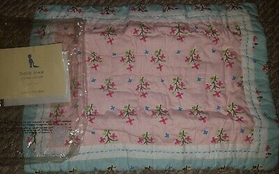 New Pottery Barn Kids PINK Chloe Small SHAM floral 12x16 decorative
