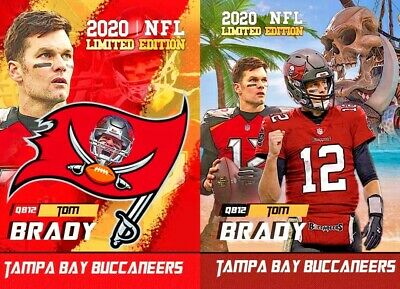 (2) Cards -Tom Brady 2020 First Ever Rookie Gems The Goat Tampa Bay Buccaneers!