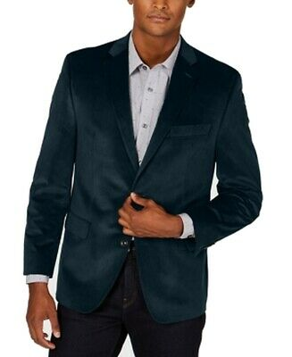 Michael Kors Mens Sport Coat Blue Size 40 Short Velvet Two Button $295 028