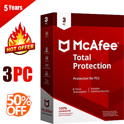McAfee Total Protection 2020 latest 3 Device 5 Year 📥 Instant Delivery 🔑