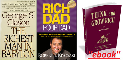 Rich Dad Poor Dad+The Richest Man in Babylon+Think and grow rich:Pack 3×1