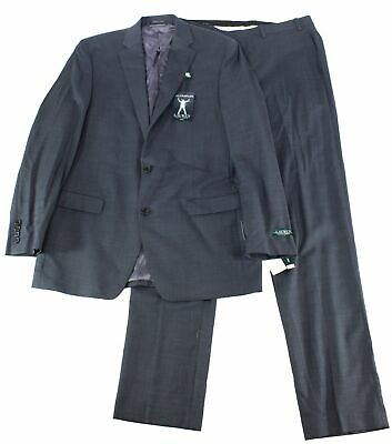 Lauren by Ralph Lauren Mens Suit Gray Size 38 Two Button Stretch Wool $600 #080