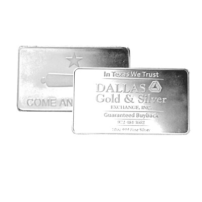 10 oz DGSE 0.999 Silver Bar - Cannon Symbol Stamped
