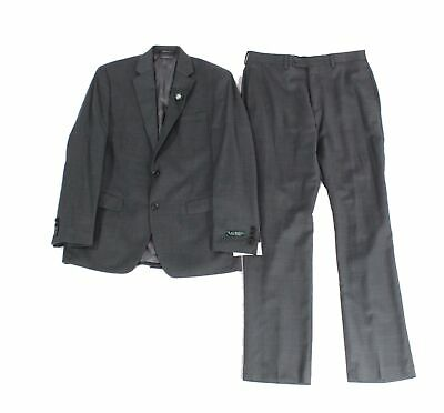 Lauren by Ralph Lauren Mens Suit Set Gray Size 37 2 Piece Wool Flex $600 #188