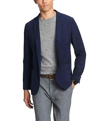 Tommy Hilfiger Mens Blazer Navy Blue Size Small S 3-Button Mesh Lined $199 #294