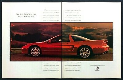 """1995 Acura NSX-T photo """"Best Things in Life Aren't Always Free"""" 2-page print ad"""