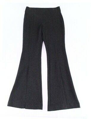 INC Women's Gray Size 8 Slit Front Flare Leg Pull On Pants Stretch $79 #267