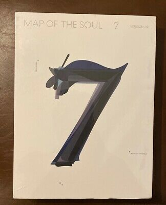 BTS MAP OF THE SOUL : 7 Album Ver.2 CD+Book+M.Book+Lyric+Card+Post+Sticker+Paper