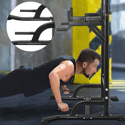 OneTwoFit Power Tower Dip Station Pull Up Indoor Bodybuilding Exercise Gym OT084