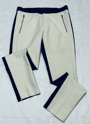 Banana Republic Addison Skinny Ankle Size 4 Womens Two Tone Pants Stretch