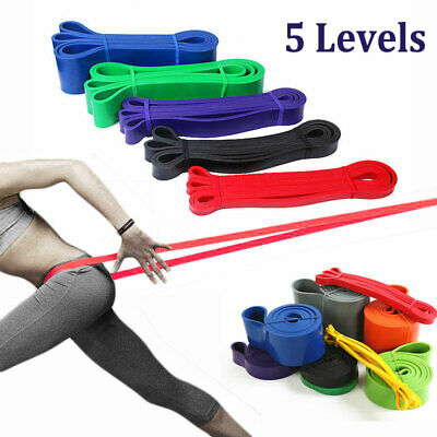 Resistance Bands Heavy Duty Assisted Pull Up Set Fitness Exercise Yoga Band Loop