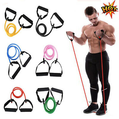 Yoga Elastic Resistance Bands Stretch Loop Exercise Gym Training Fitness Strap