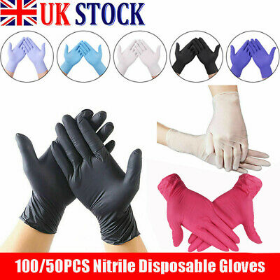 Disposable Gloves Blue Black Nitrile Latex Clear Vinyl Cleaning Supplies JY