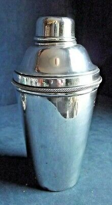 GOOD Large ~  ART DECO ~ COCKTAIL SHAKER with SQUEEZER ~ c1935  by James Dixon