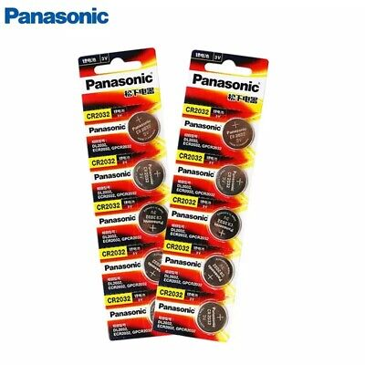 10 x Panasonic cr2032 Button Cell Batteries 3V Coin Battery For Watch 5pcs