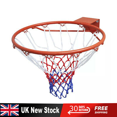 Full Size Basketball Hoop Ring Net Wall Mounted Outdoor Hanging Basket New UK