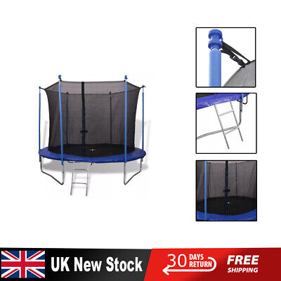 Trampoline Internal Safety Net Enclosure Ladder Rain Cover 10ft 12ft 14ft New UK