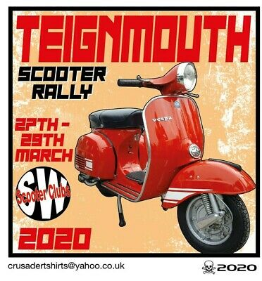 2020 OFFICIAL CANCELLED TEIGNMOUTH SCOOTER RALLY RUN PATCH not PADDY SMITH