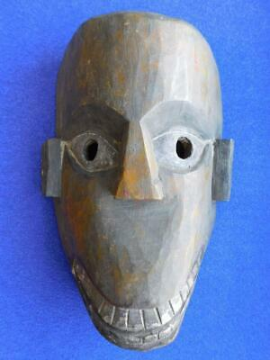Extraordinary Vintage Hand Carved Wood West African Mask 1900s