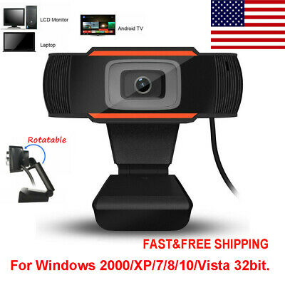 Rotatable 2.0 HD Webcam PC Digital USB Camera Video Recording with Microphone US