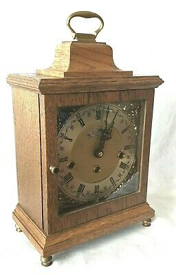 Westminster Mantel Clock Warmink 1978 Dutch 8 Day Key Wind Silent Switch Vintage
