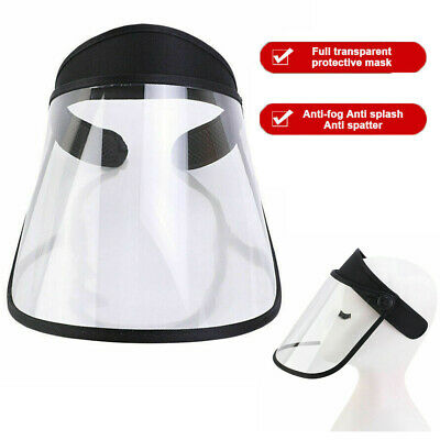 Full Face Shield Transparent Hat Splash Dust Proof Protection Cover Anti Saliva