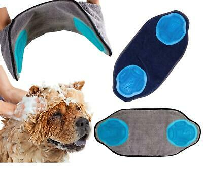 Pet Towel With Fur Removing Gloves Absorbent Quick Dry Dog Robe Easy To Use