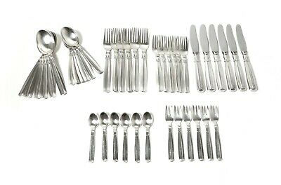 "Silver cutlery set for 6 people, 42 items. Art Deco. ""Lotus"". Denmark, 1946."