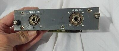 Boeing 747 Airliner Pilot's Boom Mike & Headset Connector Control Console Box