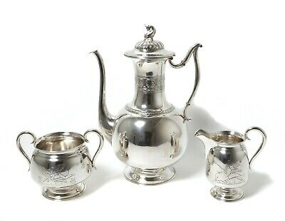 Silver coffee set, 3 items.  Denmark, year 1891.