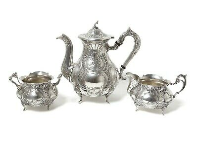 Silver coffee set, 3 items. Sweden, Malmo, year 1967, Gewe