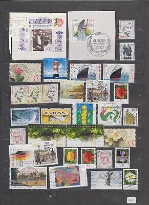 Val 909,941 _ Germany Deutschland _ nice selection of cancelled stamps