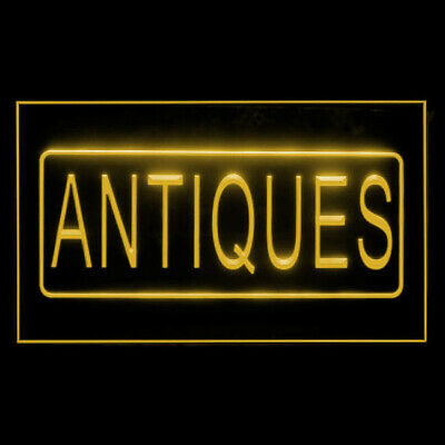 200034 Antiques Shop Collection Sale Jewellery Furniture History LED Light Sign