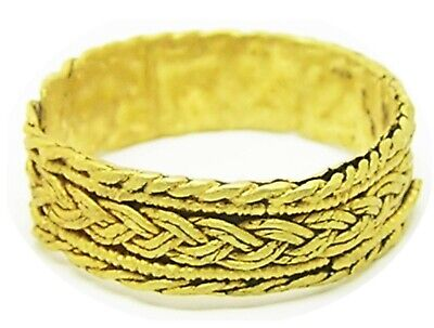 7th - 8th century Anglo Saxon gold finger ring with an intricate plaited design