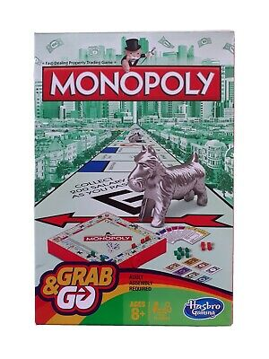 Hasbro Travel Monopoly Grab N Go A Family Traditional Board Game For 2-6 Players