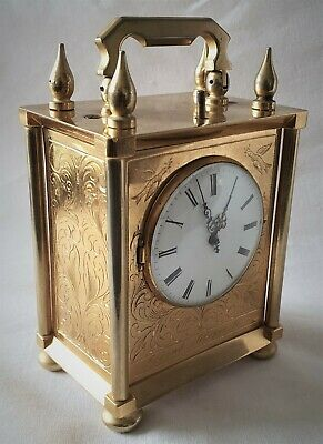 Officers Carriage Clock Chevalier & Cochet, no. N8872 Swiss Antique 1880s