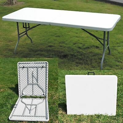 New 1.8M 6Ft Heavy Duty Folding Catering Camping Trestle Picnic Bbq Party Table